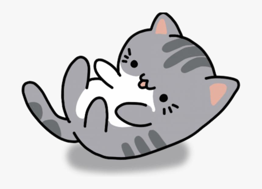 Kawaii Cat Cartoon Drawing, HD Png Download, Free Download