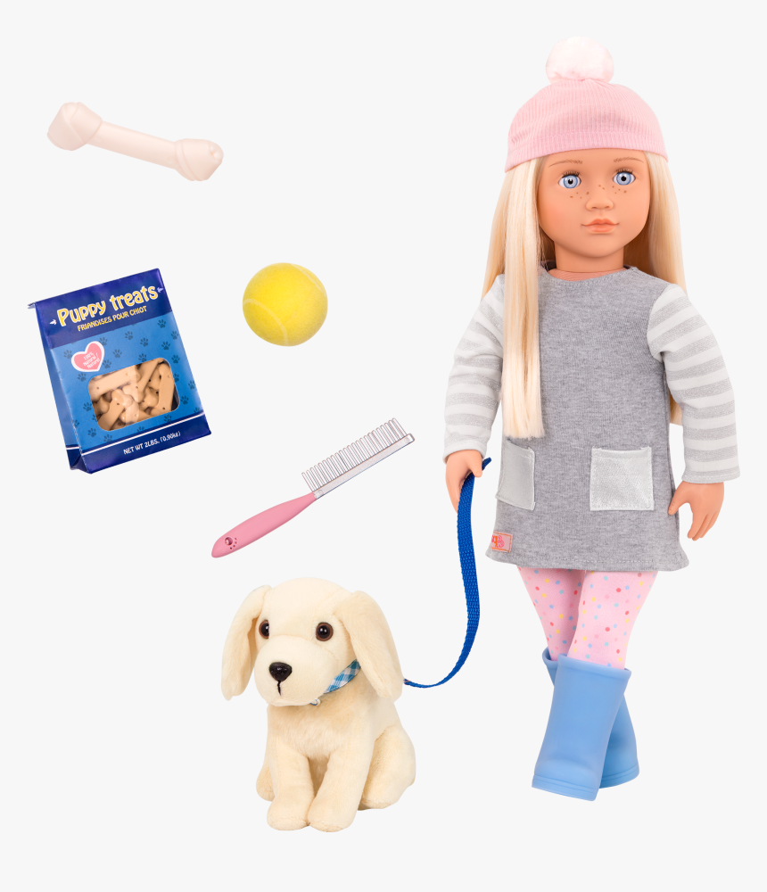 Meagan And Golden Retriever 18-inch Doll And Pet - Our Generation Doll With Dog, HD Png Download, Free Download
