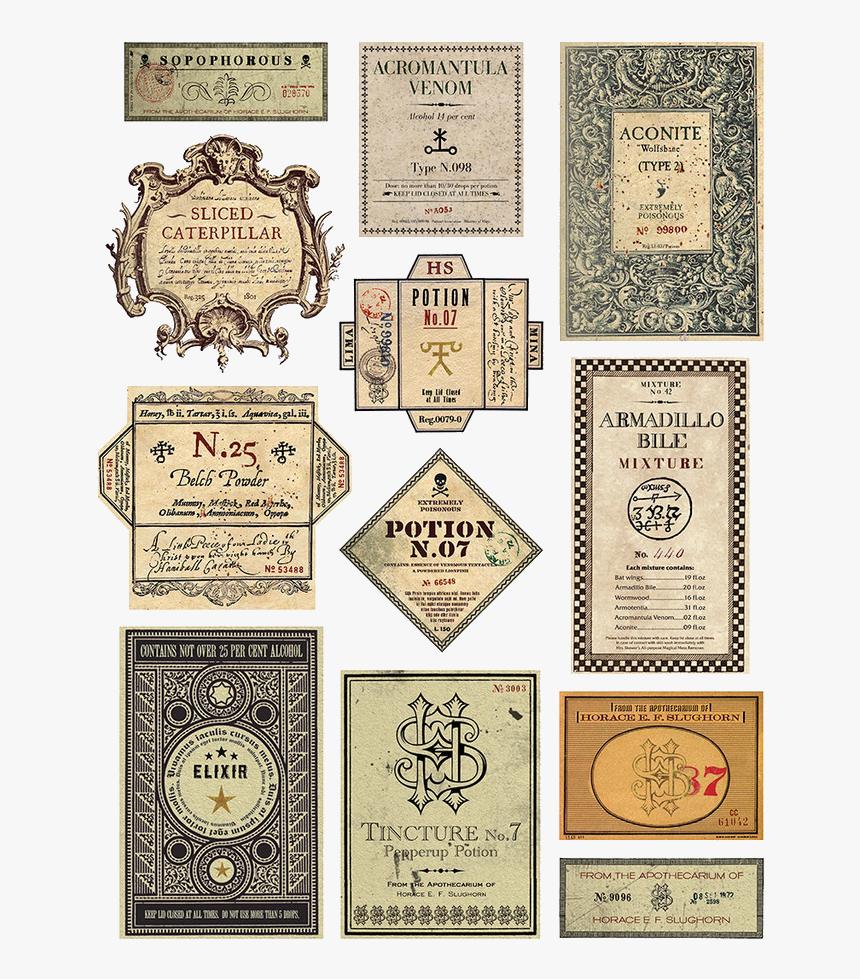 Harry Potter Free Printable Potion Labels Png Download Harry Potter Potion Print Transparent Png Kindpng