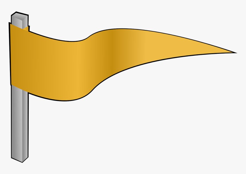 Gold Flag Clipart, HD Png Download, Free Download