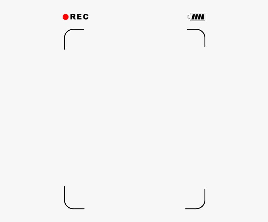 camera frame png camera #rec #overlay - rec frame png, transparent png - kindpng