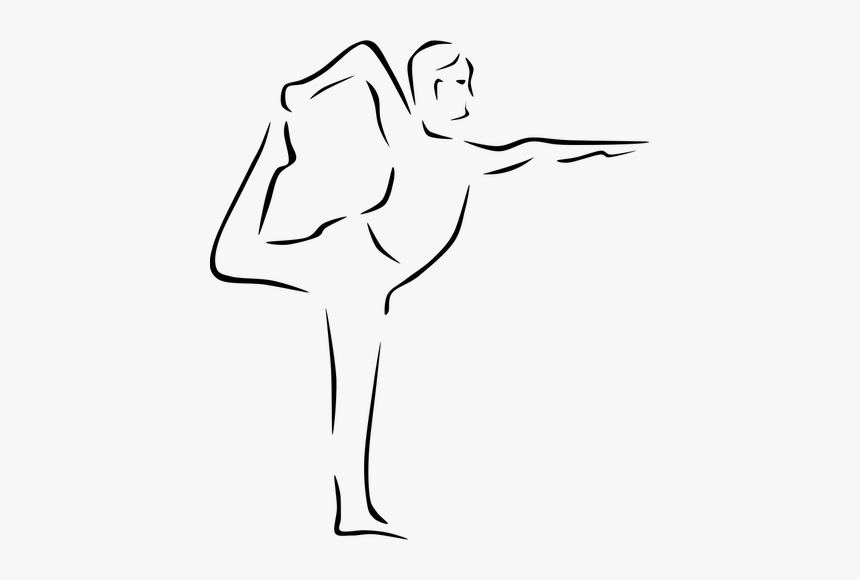 Vector Drawing Of Dandayamana Yoga Pose Flexibility Clipart Hd Png Download Kindpng
