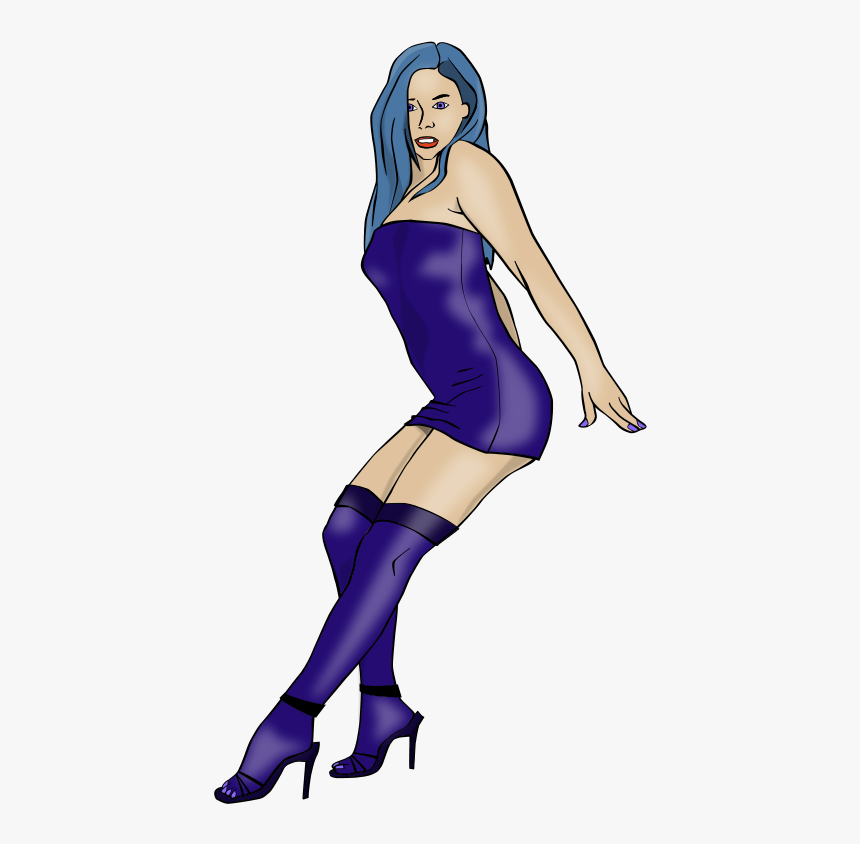 Free Vector Sexy Woman - Stripper Pin Up Girls, HD Png Download, Free Download