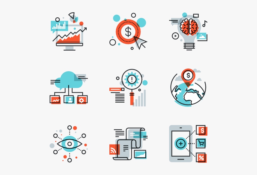 Digital Marketing - Digital Marketing Icons Png, Transparent Png, Free Download