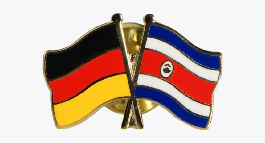 Costa Rica Friendship Flag Pin, Badge - Fahne Deutschland Costa Rica, HD Png Download, Free Download