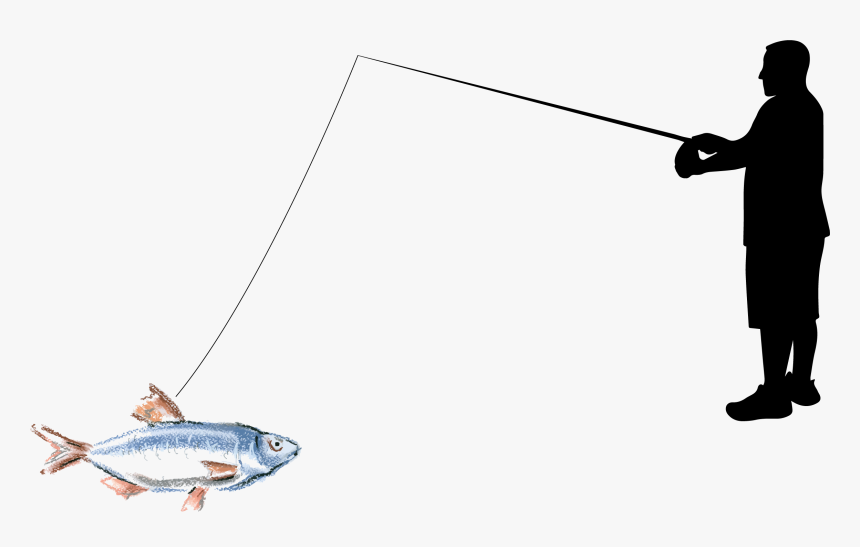 La Pesca Fishing Rod Angling - Old Man Fishing Png, Transparent Png, Free Download
