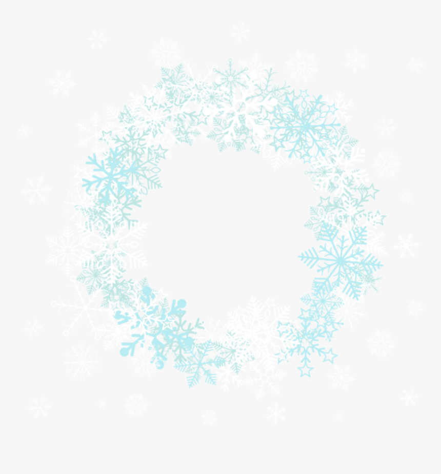 Snowflake Border Frame Png Clipart , Png Download - Circle Snowflake Border Png, Transparent Png, Free Download