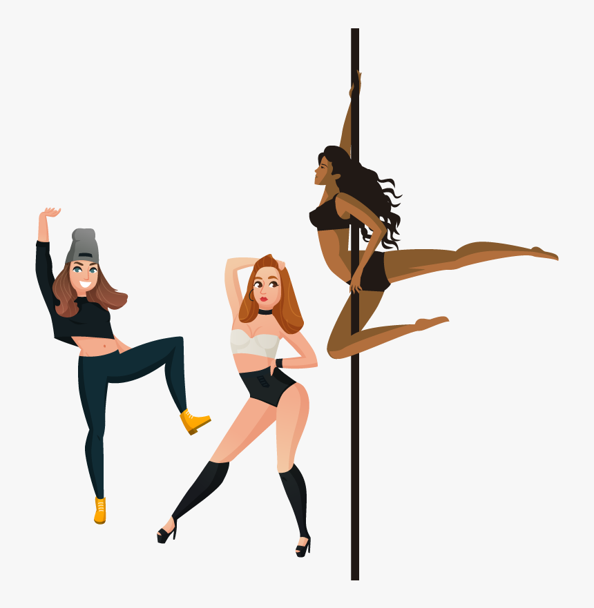 Icon Private Party - Cartoon Stripper Girl, HD Png Download, Free Download
