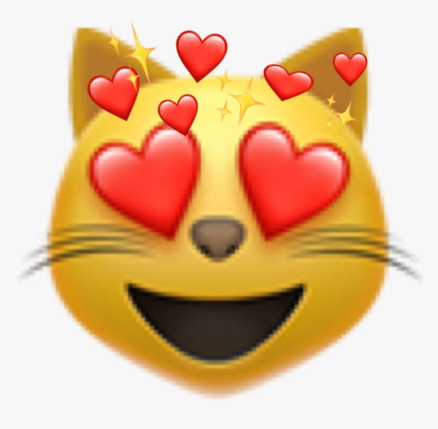 Cute Cat Heart Face Emoji ❤️✨😻 - Ios 13.3 1 New Emojis, HD Png Download, Free Download