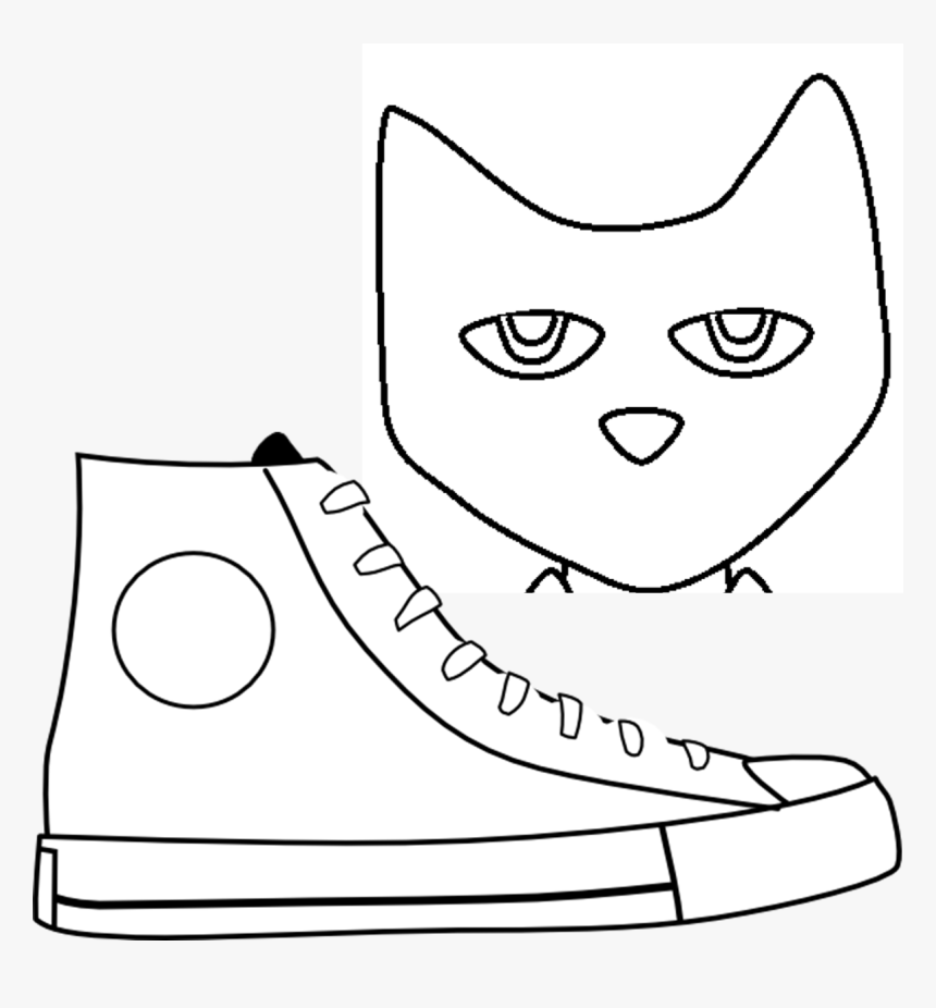 Transparent Pete The Cat Png - Pete The Cat Head Clipart Black And White, Png Download, Free Download