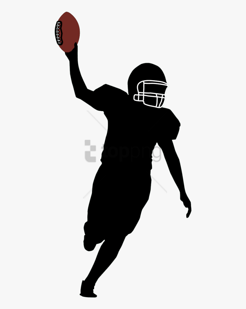 Free Png American Football Player Silhouette Png Image - Transparent Football Player Silhouette Png, Png Download, Free Download