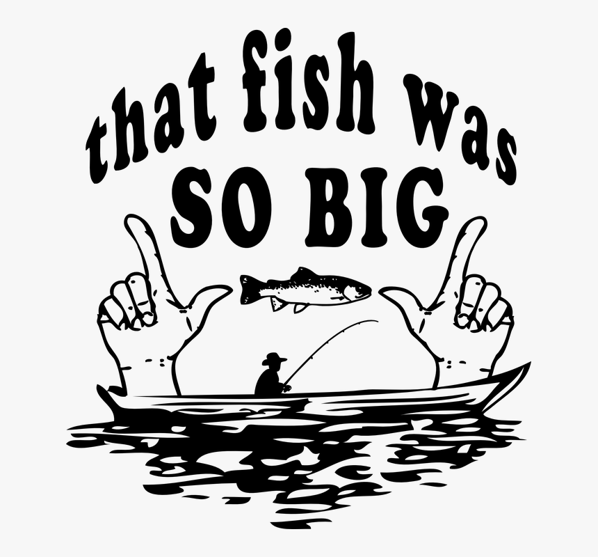 Funny Fisherman Png Fishing Clipart Black And White Transparent Png Kindpng