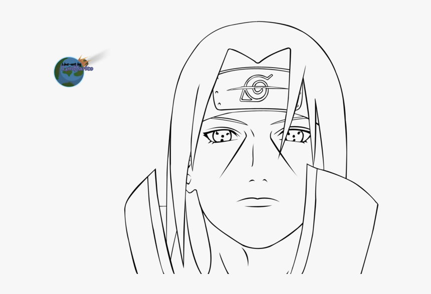 Itachi Uchiha Coloring Pages Png Download Itachi Naruto Coloring Pages Transparent Png Kindpng