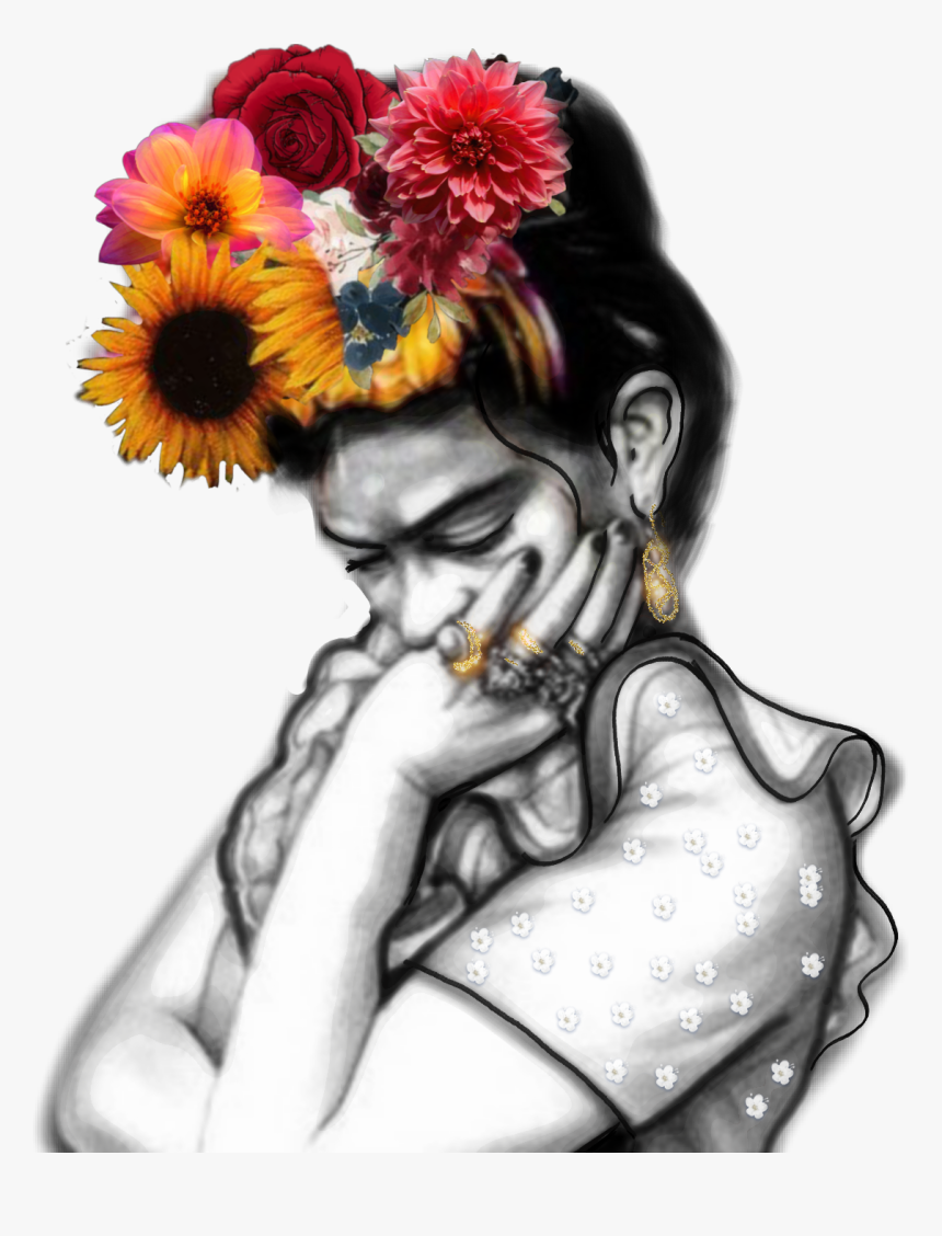 #frida #fridakahlo #flowers #unibrow Queen #mexican - Flores Frida Kahlo Frases, HD Png Download, Free Download