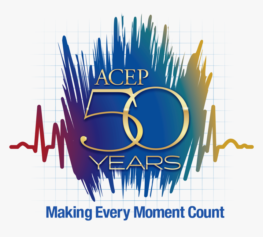 Acep 50 Years , Png Download - Acep 50 Year Logo, Transparent Png, Free Download