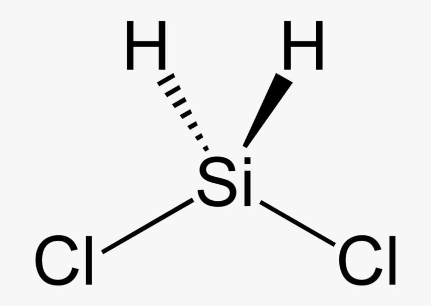 Dichlorosilane 2d Stereo Sih2cl2 Electron Pair Geometry Hd Png Download Kindpng