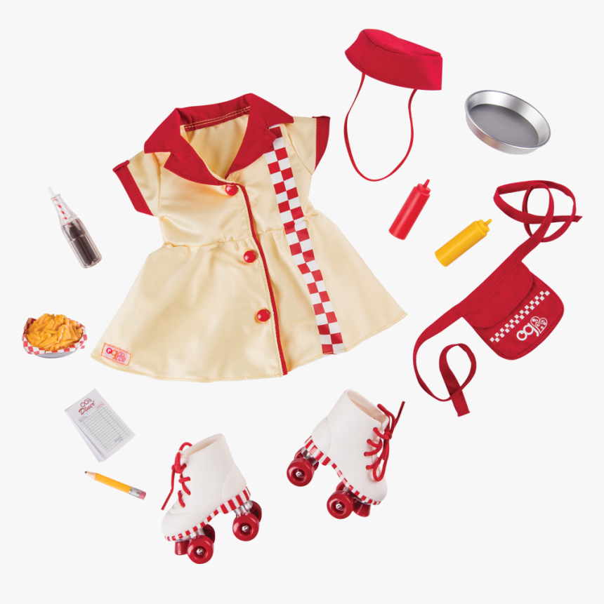"""Today""""s Special Waitress Uniform For 18-inch Dolls - Our Generation Retro Outfit, HD Png Download, Free Download"""