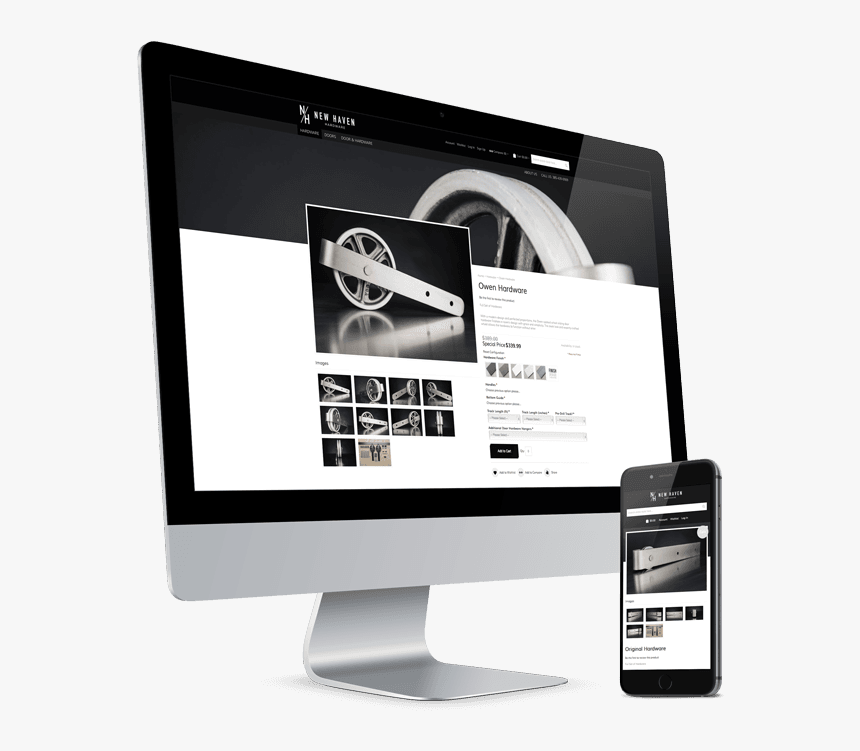 New Haven Hardware Imac And Iphone Mockup - Mockup Imac And Iphone, HD Png Download, Free Download