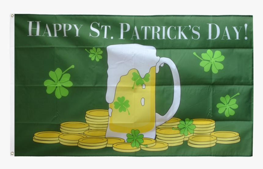 "Happy Saint Patrick""s Day St Patrick""s Beer Flag - Happy St Patrick's Day Beer, HD Png Download, Free Download"