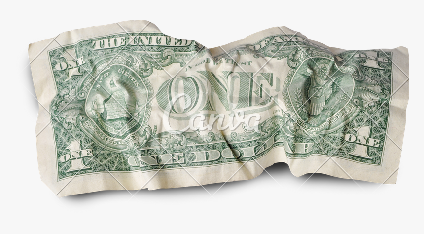 Dollar Transparent Crumpled - Insertions Into Ideological Circuits 2: Banknote Project, HD Png Download, Free Download