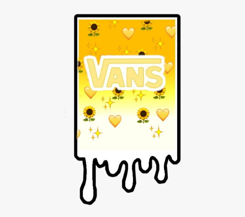 Vans Aesthetic Yellow Sticker Yellow Aesthetic Stickers Vans Hd Png Download Kindpng