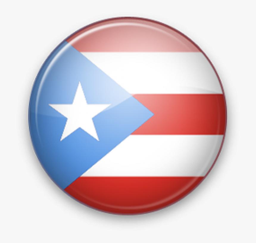 Puerto Rico Bandera Png - Bandera Puerto Rico Circulo, Transparent Png, Free Download