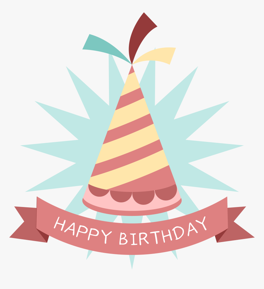Birthday Party Hat Sticker - Happy Birthday Stickers Png, Transparent Png, Free Download