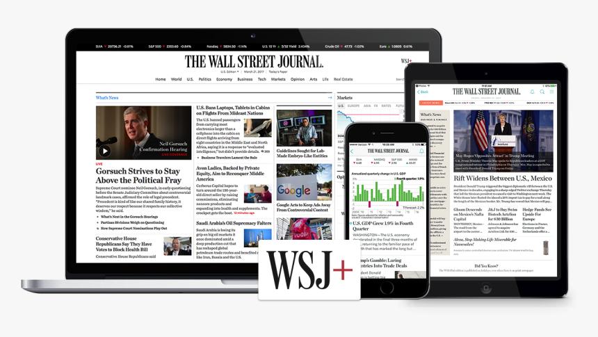 Transparent The Wall Street Journal Logo Png - Wall Street Journal, Png Download, Free Download