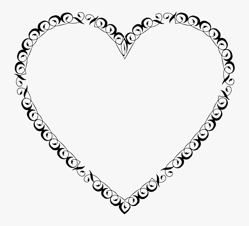 Heart Frame Clipart Black And White, HD Png Download, Free Download