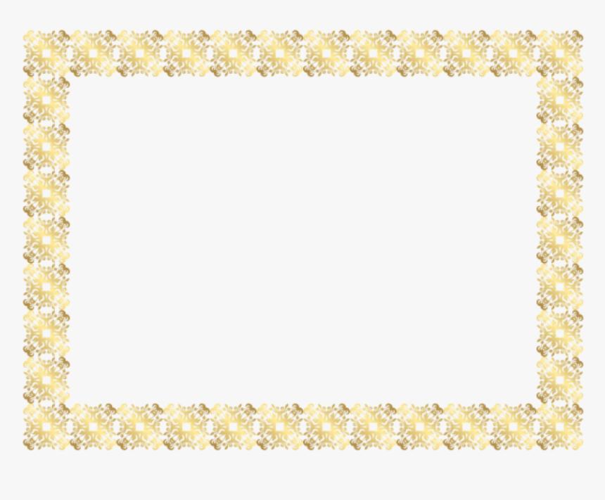 Gold Frame Border Png - Gold Frame Gold Border Png, Transparent Png, Free Download