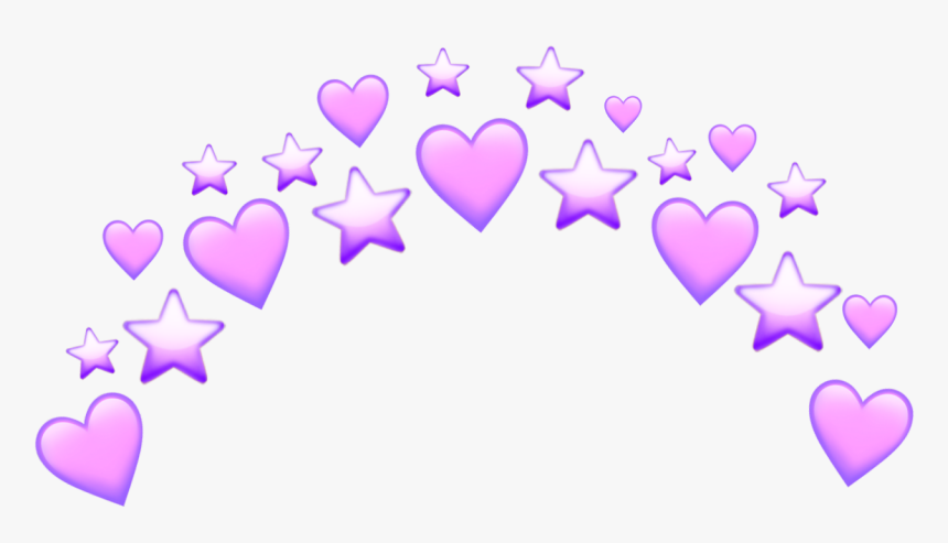 #heart #heart #pink #purple #stars #star #tumblr #crown - Heart, HD Png Download, Free Download