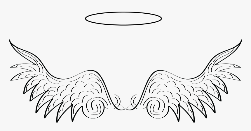 Vector Halo Black Angel - Clipart Transparent Background Angel Wings, HD Png Download, Free Download