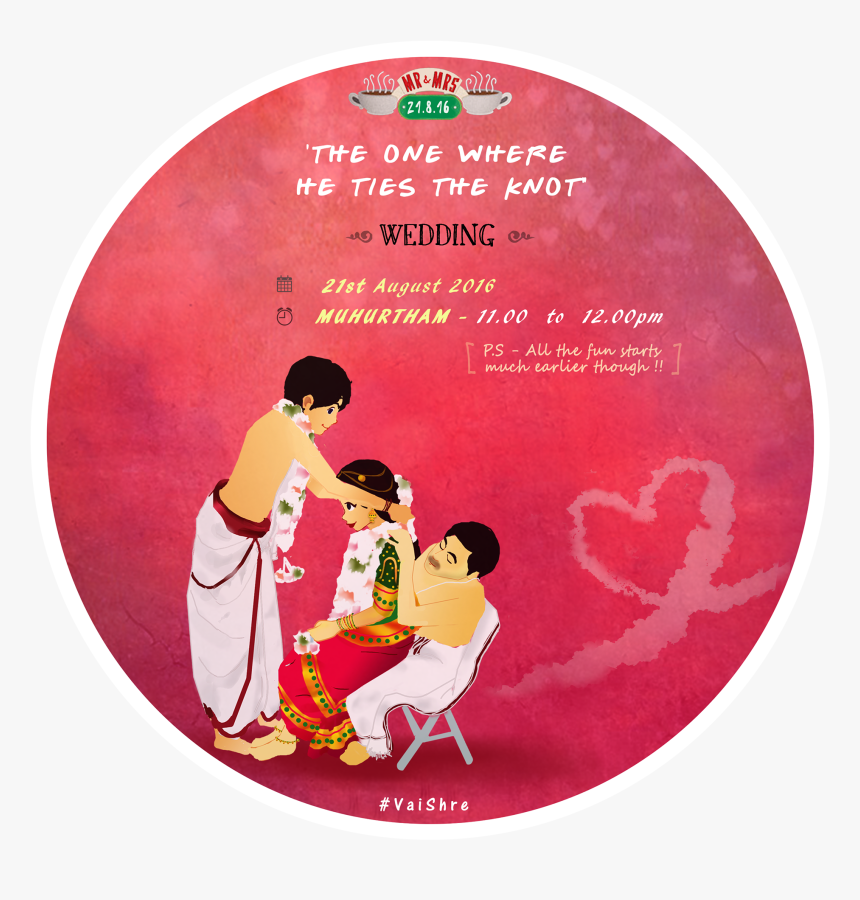 Friends Themed Wedding Invitation Indian, HD Png Download, Free Download