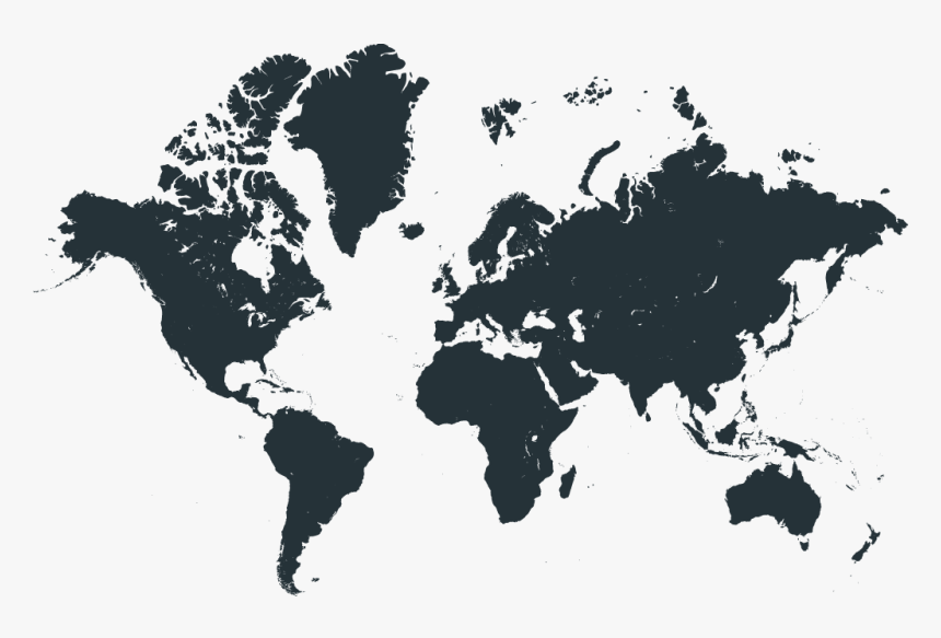 New Apostolic Church Worldwide - World Map Black Printable, HD Png Download, Free Download