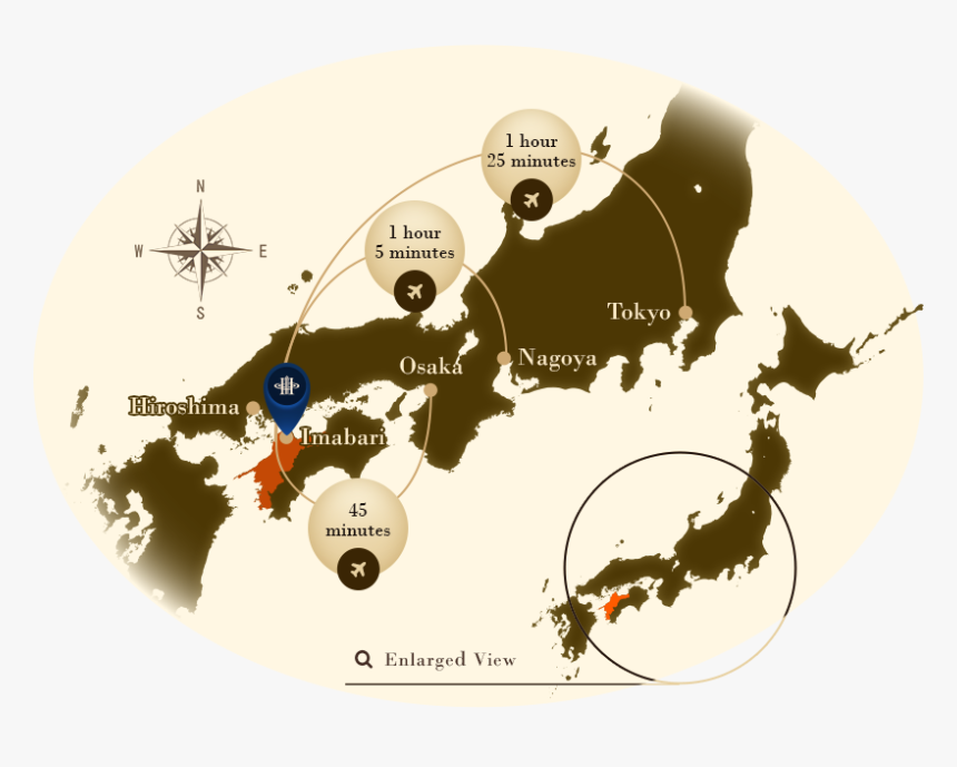 Welcome To Imabari Kokusai Hotel - Silhouette Japan Map, HD Png Download, Free Download