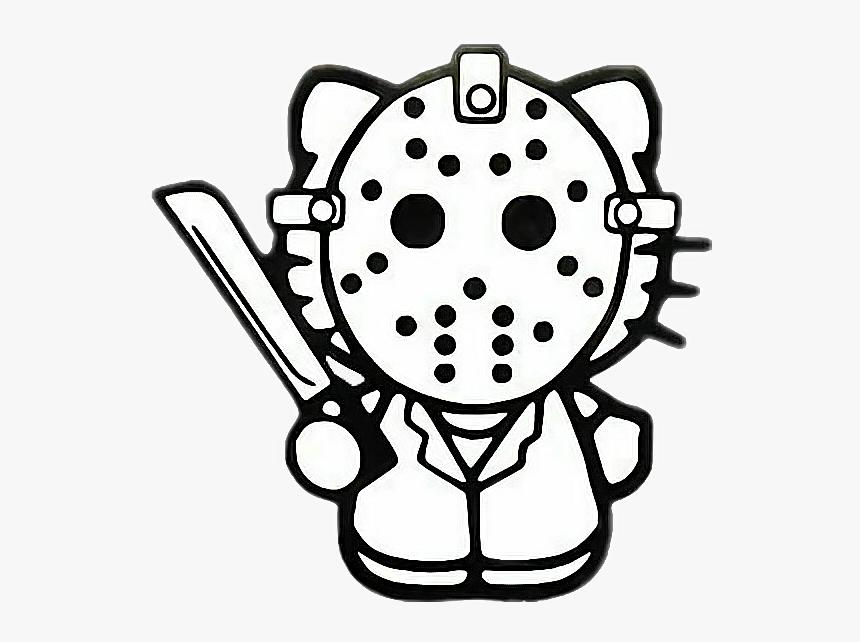 Hk Hellokitty Scarykitty Halloween Spooky Kidcore Goth - Hello Kitty Jason Mask, HD Png Download, Free Download