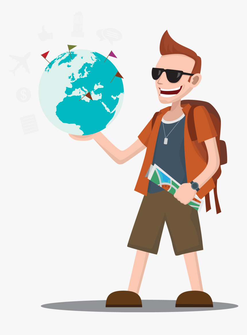 Wright Brothers Travel Tourism - Tourist Clipart Png, Transparent Png, Free Download