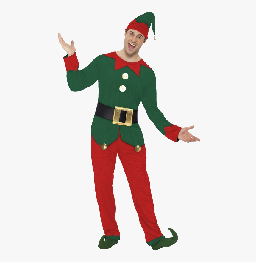 Christmas Elf Costume Male , Png Download - Elf Suit, Transparent Png, Free Download