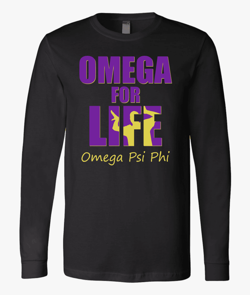 Buy Omega Psi Phi Tagline Canvas Long Sleeve Shirt - Long-sleeved T-shirt, HD Png Download, Free Download