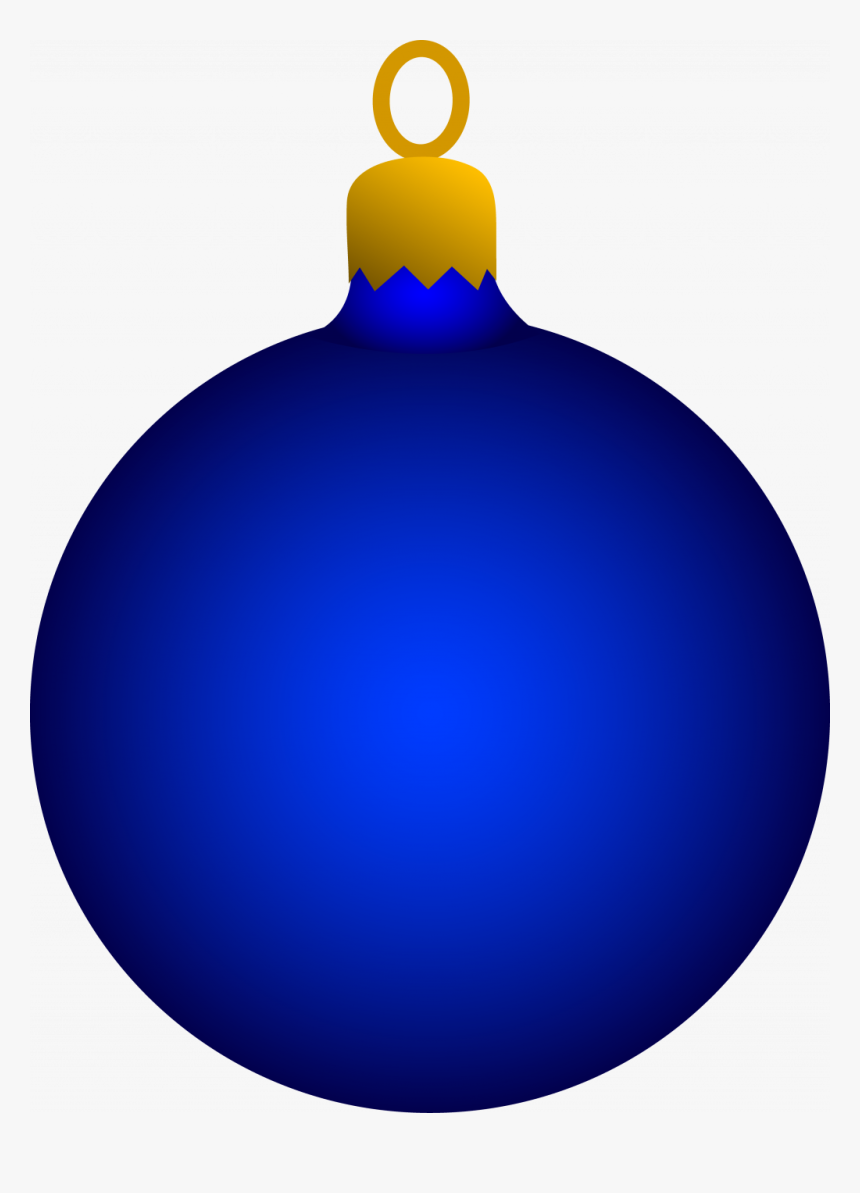 Uncategorized ~ Blue Christmas Tree Ornament Free Clip - Blue Christmas Ornament Clip Art, HD Png Download, Free Download