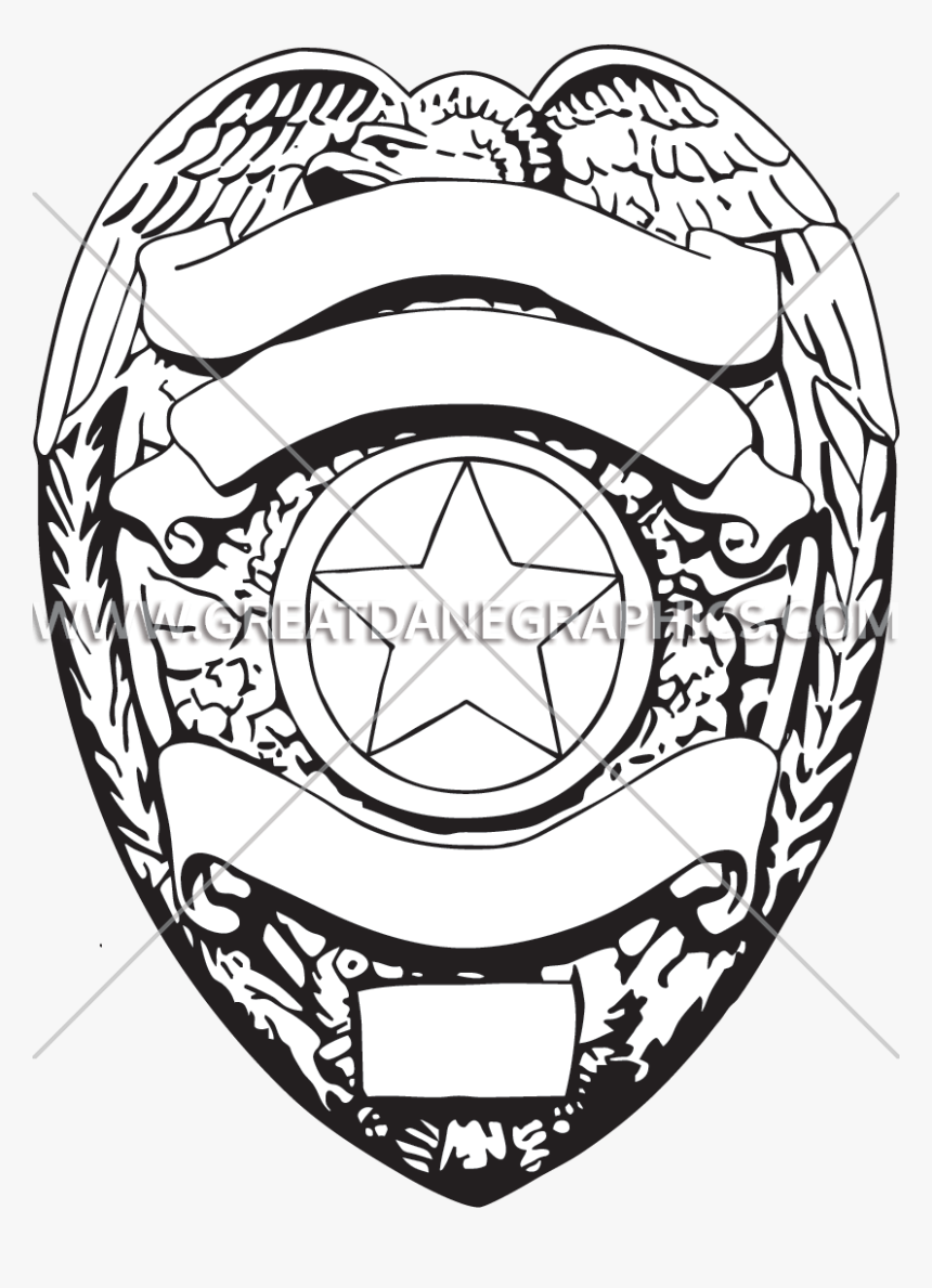 Police Badge Drawing At - Badge, HD Png Download, Free Download