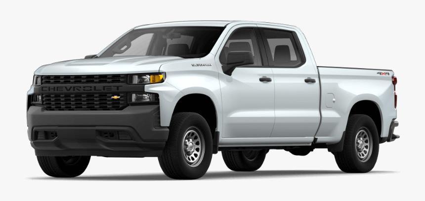2020 Chevy Silverado 1500 Wt-summit White - Silverado Lt Vs Rst, HD Png Download, Free Download