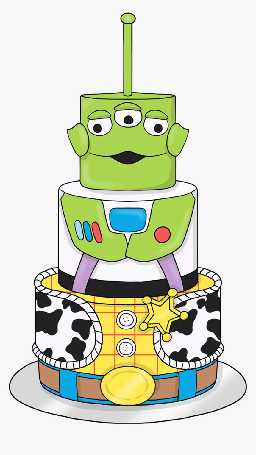 Incredible Toystory Birthdaycake Alien Buzzlightyear Woody Cartoon Hd Funny Birthday Cards Online Inifofree Goldxyz