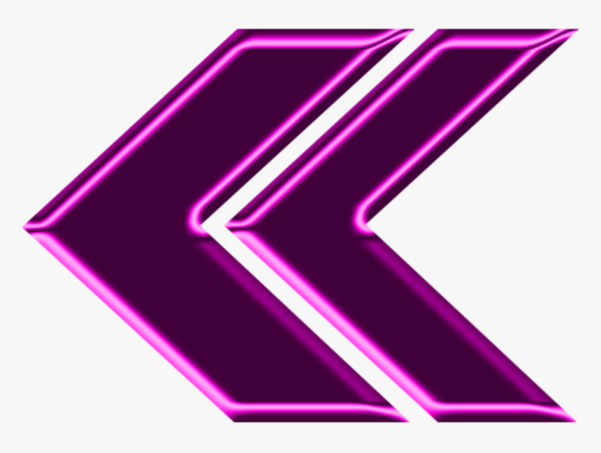 #mq #pink #arrow #neon - Transparent Neon Triangle Hd, HD Png Download, Free Download
