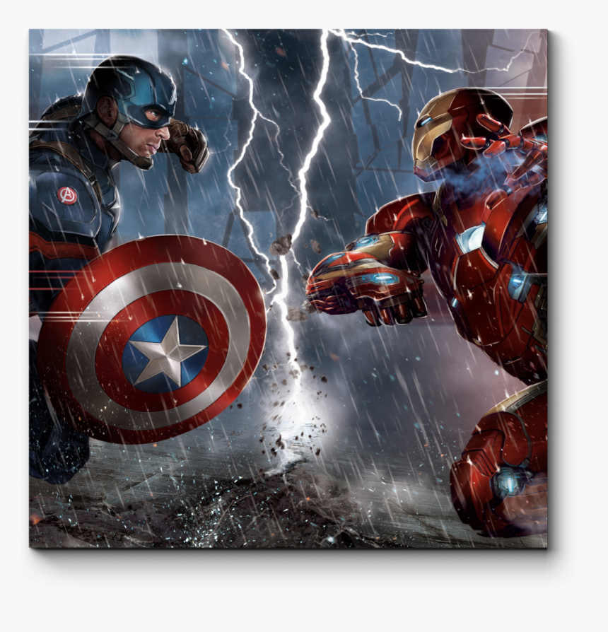 Man America Hulk Thor Black Iron Captain Clipart - Captain America And Iron Man, HD Png Download, Free Download