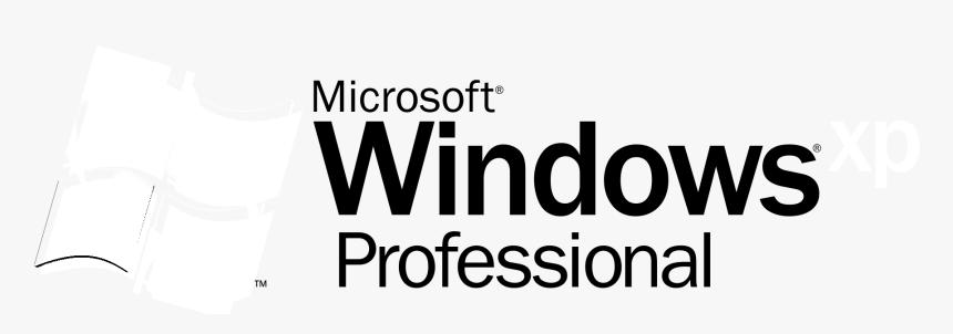 Microsoft Windows Xp Professional Logo Black And White - Windows Xp, HD Png Download, Free Download
