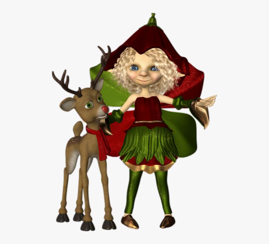 Cerf Noel Noël, Tube Cookie, Elfe Png, Cerf   Christmas, Transparent Png