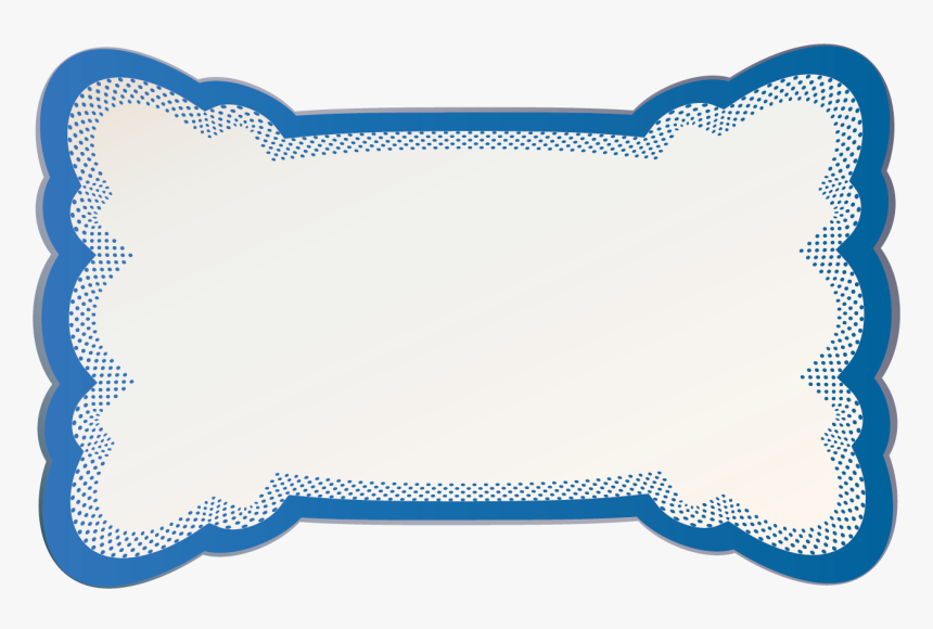 Blue Outline Tray Badge Blue Dot Border With White, HD Png Download, Free Download