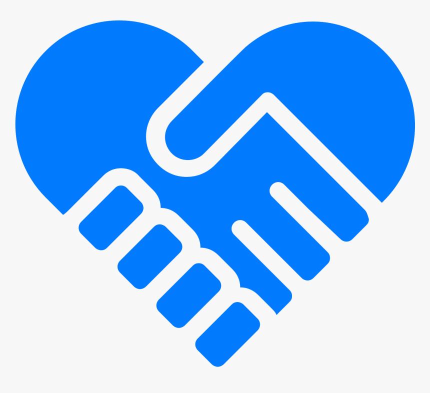 Heart Icons Handshake - Heart Handshake Clipart, HD Png Download, Free Download