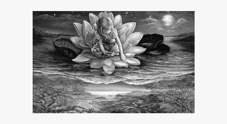 La Flor De Loto Flotando En El Agua - Josephine Wall, HD Png Download, Free Download